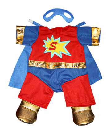 Super Bear Outfit - 8""